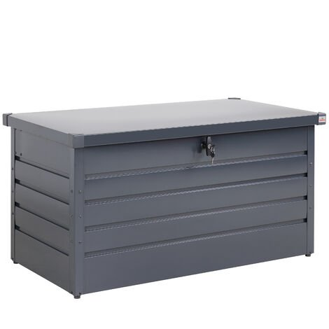 Gardebruk Storage Box Garden Metal 360L Lockable Gas Lift Chest Tool Box 120 x 62 x 63 cm