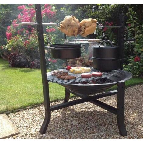 Gardeco Buffalo Large Rotisserie Chimenea Fire Pit Bowl Garden Heater BBQ