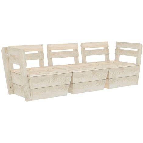 Garden 3-Seater Pallet Sofa Impregnated Spruce Wood