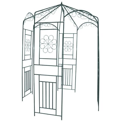 Garden Arch 250 cm Black - Black