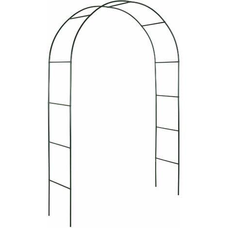 Garden arch approx. 240 cm steel - garden arbor, metal garden arch, rose arch - green