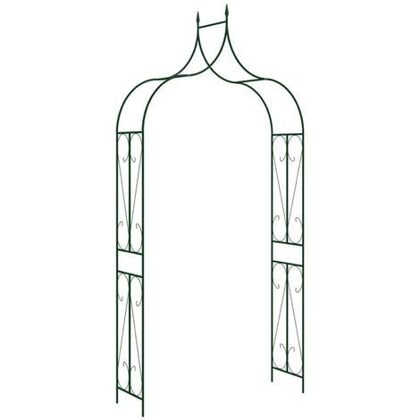 Garden Arch Black 120x38x258 cm Iron