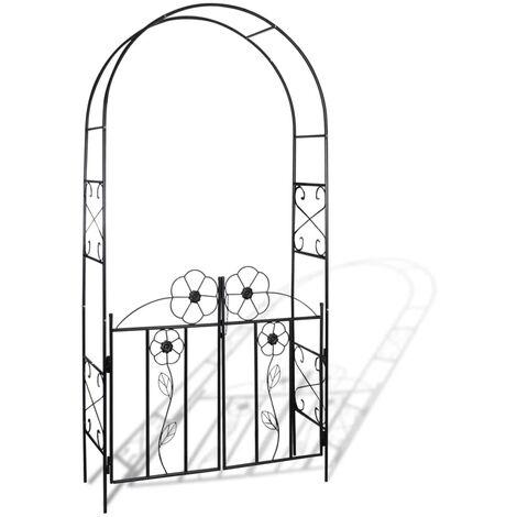 """main image of """"Garden Arch Door - Black"""""""