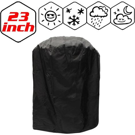 Garden BBQ Cover Barbecue Protector Outdoor Burner Grill Dust Rain Cover Heavy Duty, Waterproof, UV Repellent, Double Stitching, Elastic Hem Cord, Weather Protective for Gas Electric Charcoal Grill - 170x61x117cm