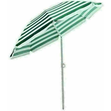 Garden Beach Green-White Parasol Outdoor Patio Sun Shade Tilting Umbrella 180cm