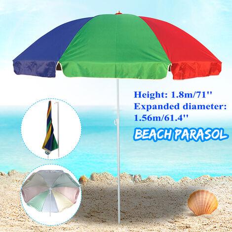 Garden Beach Patio Tilt Umbrella Parasol Sunshade Sunshade UV Protection