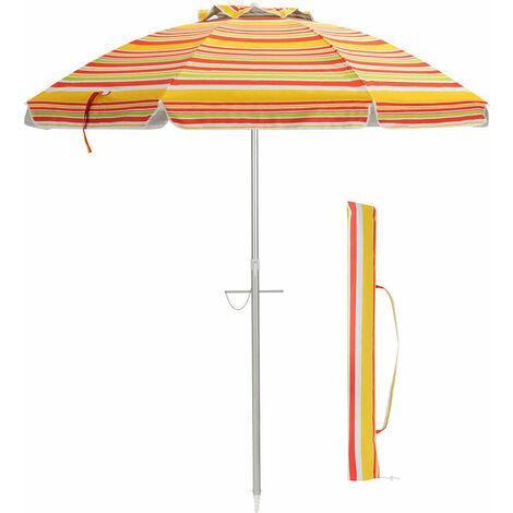 Garden Beach Patio Tilting Tilt Umbrella Parasol Sun Shade UPF 50+ Protection 2M
