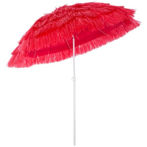 Garden Beach Sun Parasol Patio Umbrella Shade Hawaiian Outdoor Party New Tilt