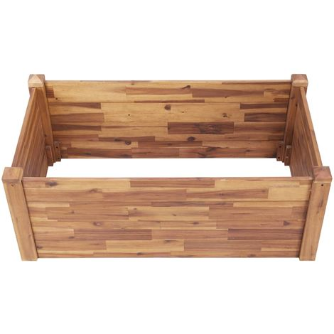 """main image of """"Garden Bed 110x60x44 cm Solid Acacia Wood"""""""