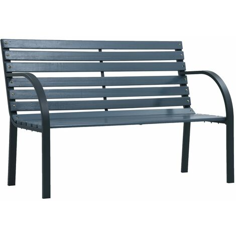 Garden Bench 120 cm Grey Wood - Grey