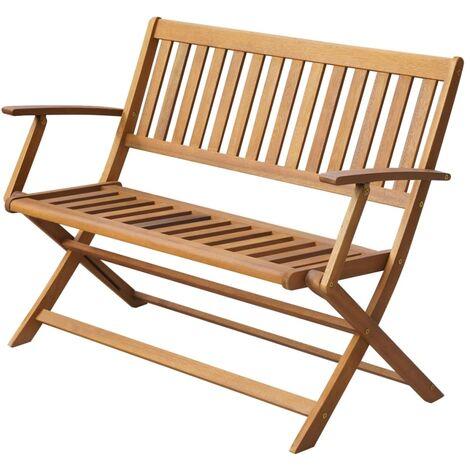 Garden Bench 120 cm Solid Acacia Wood - Brown