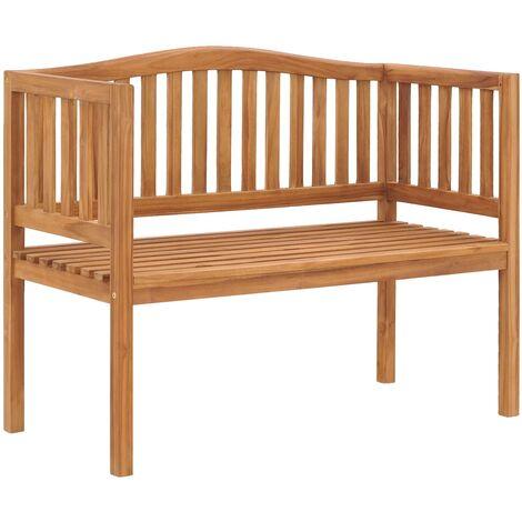 Garden Bench 120 cm Solid Teak Wood - Brown