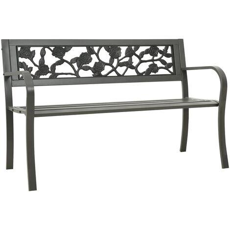 Garden Bench 125 cm Steel Grey