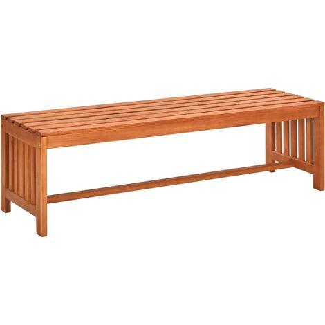 Garden Bench 130 cm Solid Eucalyptus Wood