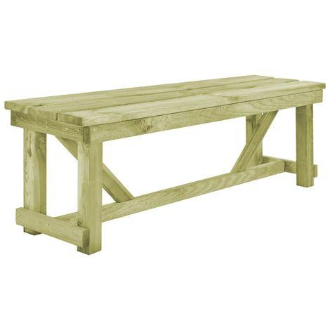 Garden Bench 140 cm FSC Impregnated Pinewood