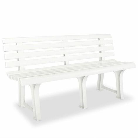 Garden Bench 145,5 cm Plastic White