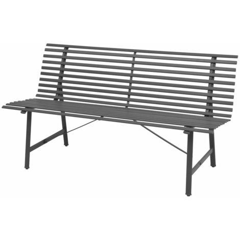 Garden Bench 150 cm Steel Anthracite