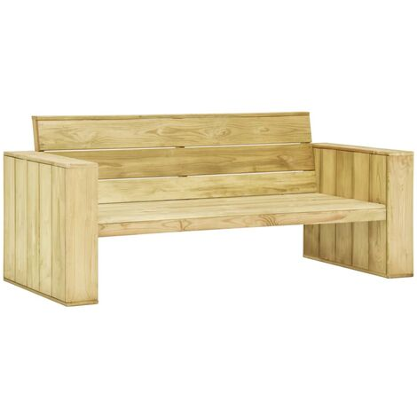 Garden Bench 179 cm Impregnated Pinewood