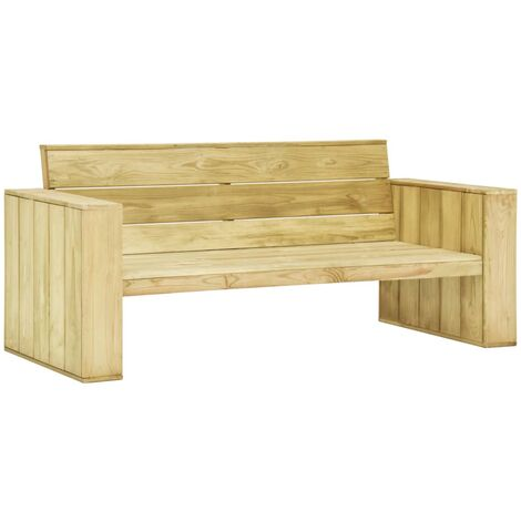Garden Bench 179 cm Impregnated Pinewood - Green
