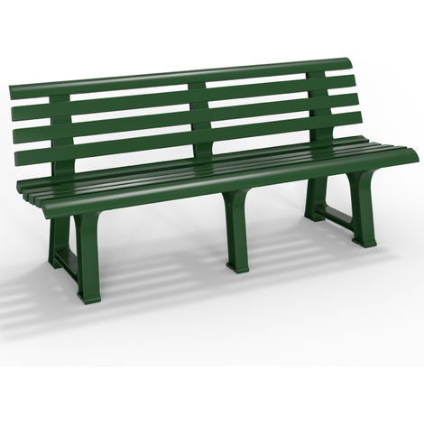 Garden Bench 3 Seater Plastic Outdoor Furniture Seat Balcony Porch Home Backrest