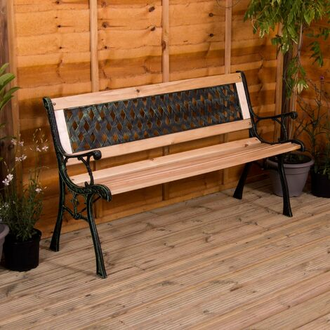 Garden Bench, Cross Style