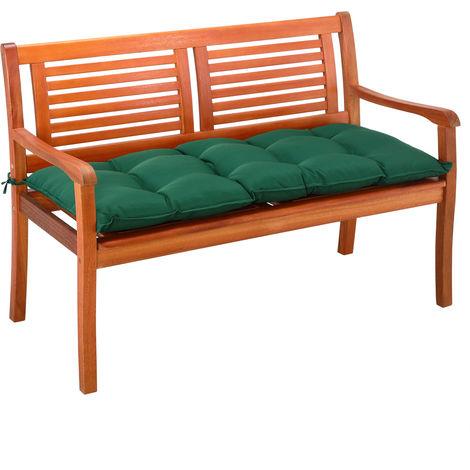 Garden Bench Cushion 110 cm Visco Elastic Effect Indoor Outdoor Pads