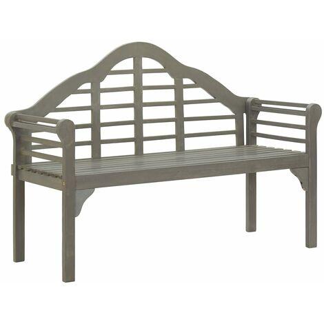 Garden Bench Grey Wash 135 cm Solid Acacia Wood