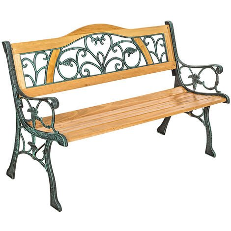 Garden bench Kathi - wooden bench, wooden garden bench, outdoor bench - brown