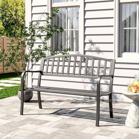 Garden bench - outdoor bench, metal bench, metal garden bench - black