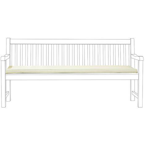 Garden Bench Seat Cushion Off-White TOSCANA/JAVA