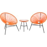 Garden Bistro Set Orange ACAPULCO