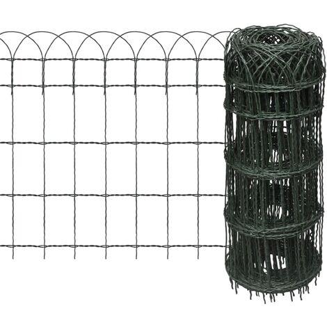Garden Border Fence Powder-coated Iron 10x0,65 m