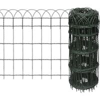 Garden Border Fence Powder-coated Iron 10x0,65 m