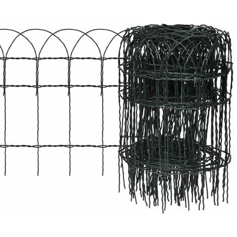 Garden Border Fence Powder-coated Iron 25x0.4 m