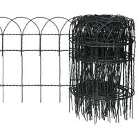 Garden Border Fence Powder-coated Iron 25x0.4 m