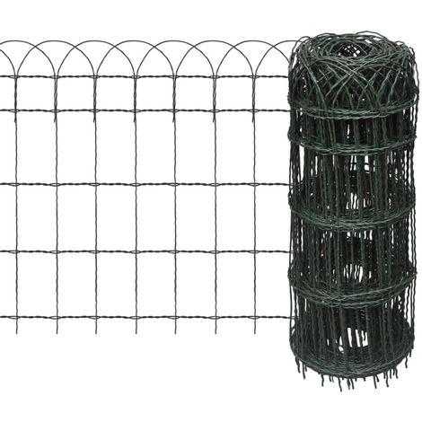 Garden Border Fence Powder-coated Iron 25x0.65 m