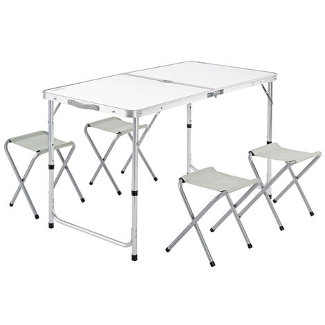 Garden Camping Table and Chairs Set - Folding and Space-saving