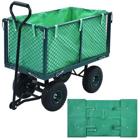 Garden Cart Liner Green Fabric