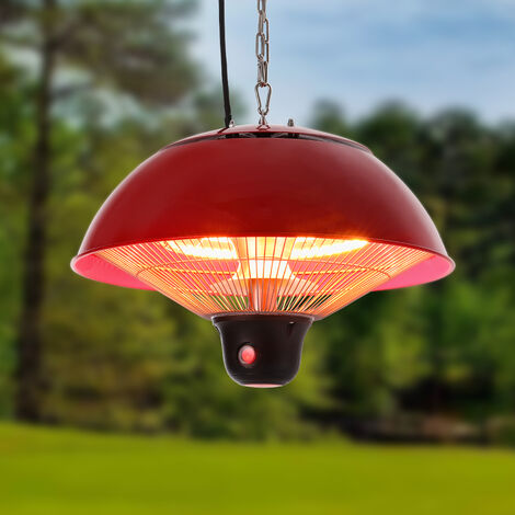 Garden Ceiling Hang Electric Patio Heater 500W, 1000W, 1500W with Remote Control