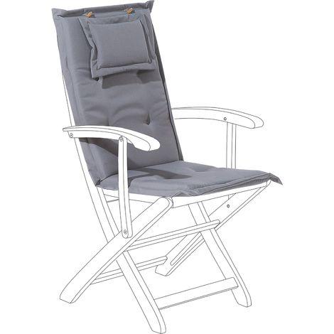 Garden Chair Cushion Graphite Grey MAUI