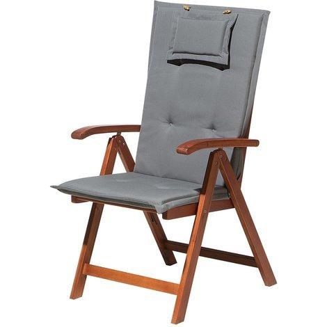 Garden Chair Cushion Grey TOSCANA