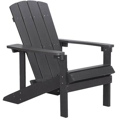 Garden Chair Dark Grey ADIRONDACK