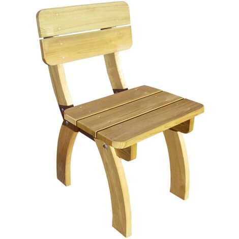 Garden Chair Impregnated Pinewood - Brown