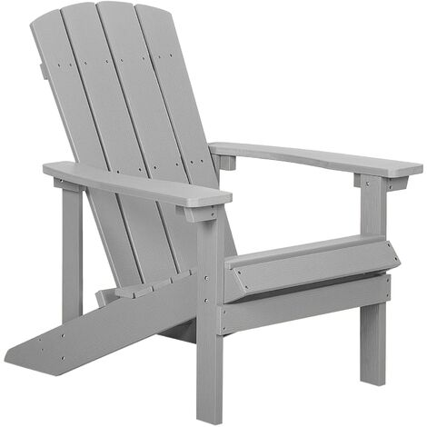 Garden Chair Light Grey ADIRONDACK