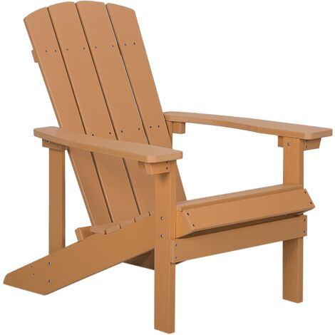 Garden Chair Light Wood ADIRONDACK