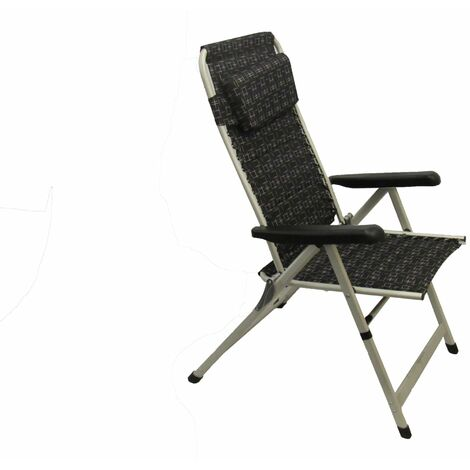 Garden Chair Padded Recliner (Folding Camping Comfortable Summer Seat)