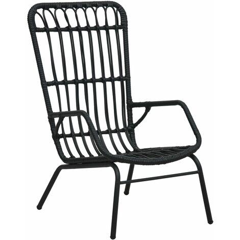 Garden Chair Poly Rattan Black