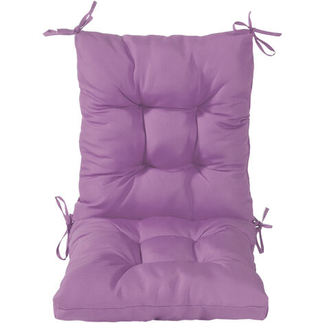 Garden Chair Tufted Seat High Back Cushion Pad Dining Patio Decor 100x45x7cm