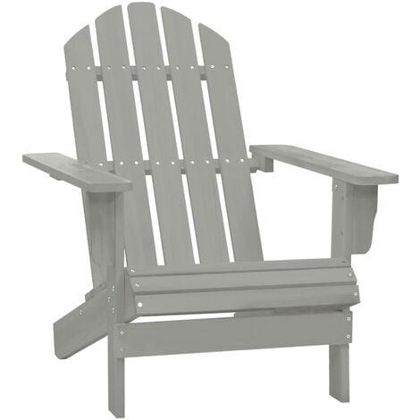 Garden Chair Wood Grey - Grey