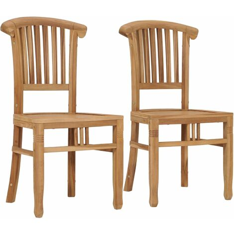 Garden Chairs 2 pcs Solid Teak Wood